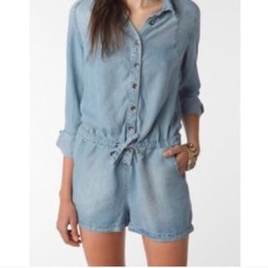 Staring at Stars Tencel Long Sleeve Romper Medium